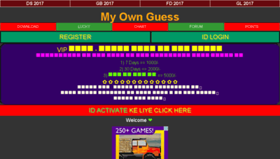 What Myownguess.in website looked like in 2017 (4 years ago)