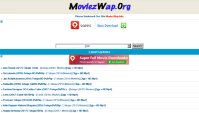 What Moviezwap.net website looked like in 2017 (4 years ago)
