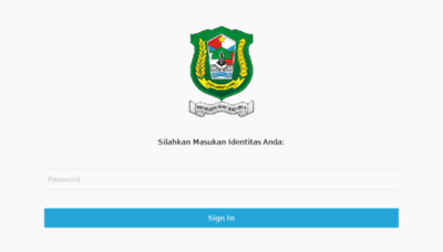 What Mbna.e-gov.my.id website looked like in 2018 (3 years ago)