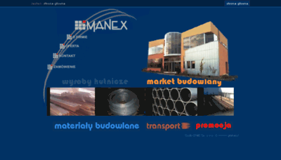 What Manex.pl website looked like in 2018 (3 years ago)