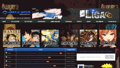 What Mangaku.in website looked like in 2018 (3 years ago)