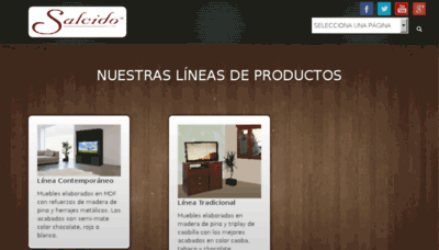 What Mueblesalcido.com.mx website looked like in 2018 (2 years ago)