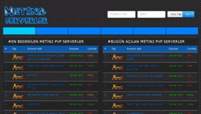 What Metin2serverler.org website looked like in 2018 (3 years ago)