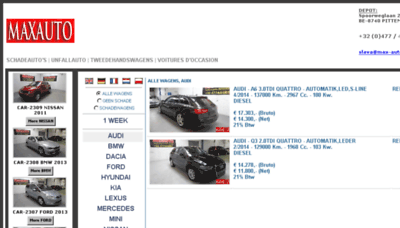 What Max-auto.be website looked like in 2018 (3 years ago)