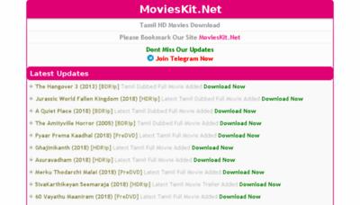 What Movieskit.net website looked like in 2018 (3 years ago)