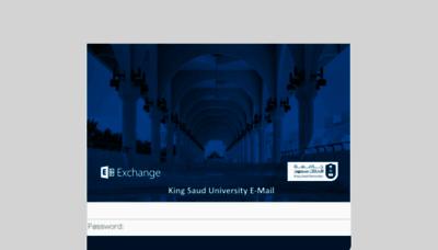 What Mail.ksu.edu.sa website looked like in 2018 (3 years ago)