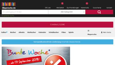 What Mayersche.de website looked like in 2018 (3 years ago)