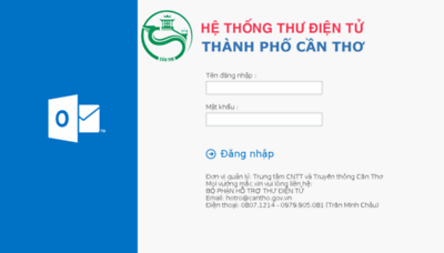 What Mail.cantho.gov.vn website looked like in 2018 (3 years ago)