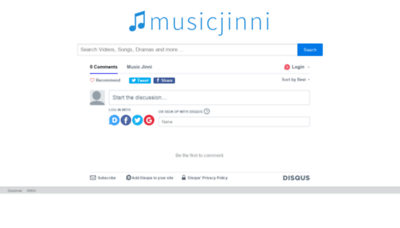 What Musicjinni.co website looked like in 2018 (2 years ago)