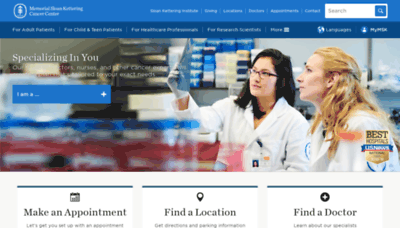 What Mskcc.org website looked like in 2019 (2 years ago)