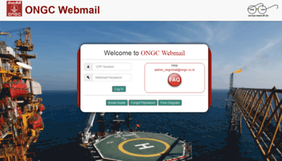 What Mail.ongc.co.in website looked like in 2019 (2 years ago)