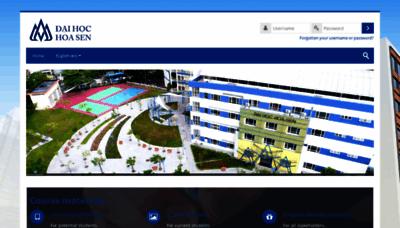What Mlearning.hoasen.edu.vn website looked like in 2019 (2 years ago)