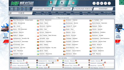 What Myfootball.top website looked like in 2019 (2 years ago)