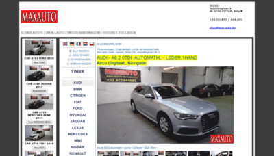 What Max-auto.be website looked like in 2019 (2 years ago)