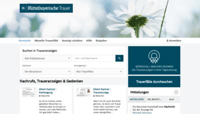 What Mittelbayerische-trauer.de website looked like in 2019 (2 years ago)