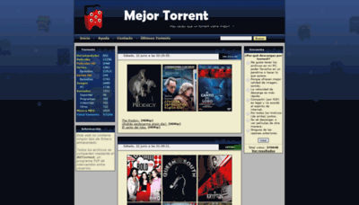 What Mejortorrent.org website looked like in 2019 (2 years ago)