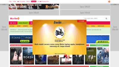 What Movies21.me website looked like in 2019 (1 year ago)