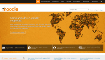 What Moodle.org website looked like in 2019 (2 years ago)