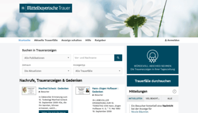 What Mittelbayerische-trauer.de website looked like in 2019 (1 year ago)