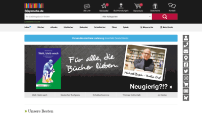 What Mayersche.de website looked like in 2019 (2 years ago)