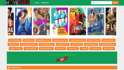 What Moviesbaba.fun website looked like in 2019 (1 year ago)