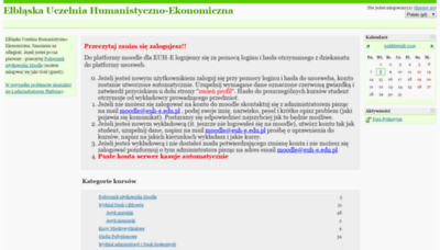 What Moodle.euh-e.edu.pl website looked like in 2019 (2 years ago)