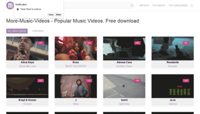 What More-music-videos.icu website looked like in 2019 (1 year ago)