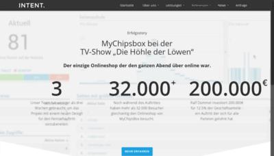 What Mychipsbox.de website looked like in 2019 (1 year ago)