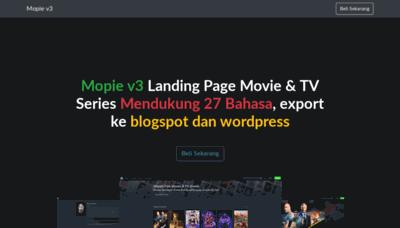 What Mopie.xyz website looked like in 2019 (1 year ago)