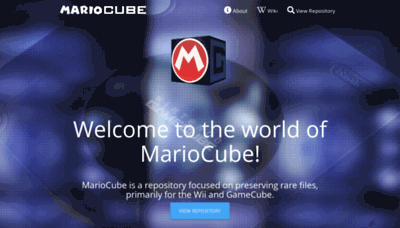 What Mariocube.xyz website looked like in 2019 (1 year ago)