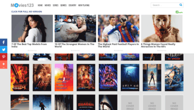 What Movies123.watch website looked like in 2019 (1 year ago)