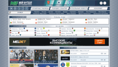 What Myfootball.top website looked like in 2019 (1 year ago)
