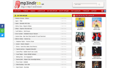 What Mp3indirco.info website looked like in 2019 (1 year ago)