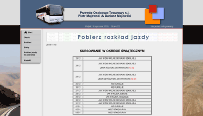 What Majewskibus.pl website looked like in 2020 (1 year ago)
