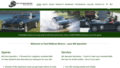 What Mgparts.co.nz website looked like in 2020 (1 year ago)