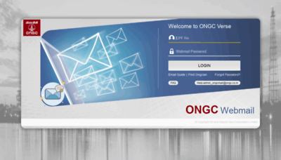 What Mail.ongc.co.in website looked like in 2020 (1 year ago)
