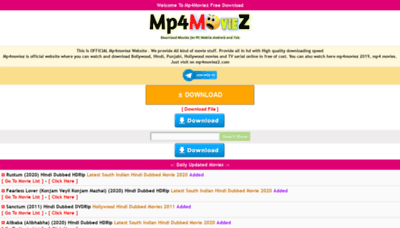 What Mp4moviez2.net website looked like in 2020 (1 year ago)