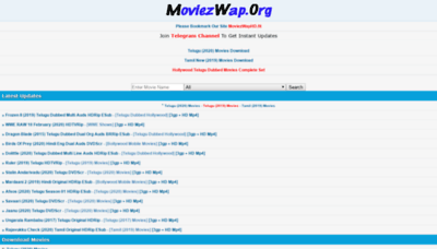 What Moviezwaphd.ws website looked like in 2020 (1 year ago)