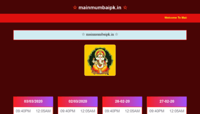 What Mainmumbaipk.in website looked like in 2020 (1 year ago)