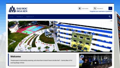 What Mlearning.hoasen.edu.vn website looked like in 2020 (1 year ago)