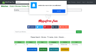 What M4ufree.fun website looked like in 2020 (1 year ago)