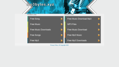 What Mp3bytes.xyz website looked like in 2020 (1 year ago)