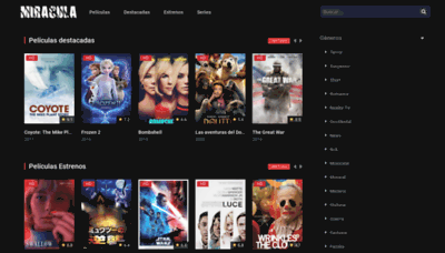 What Miracula.tv website looked like in 2020 (1 year ago)