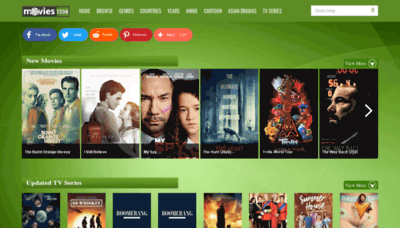 What Movies1234.net website looked like in 2020 (1 year ago)