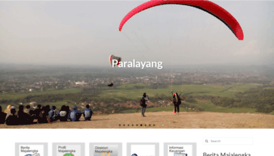 What Majalengkakab.go.id website looked like in 2020 (1 year ago)