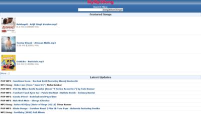 What Mymp3song.guru website looked like in 2020 (1 year ago)