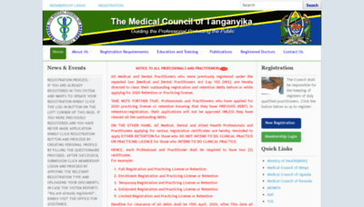 What Mct.go.tz website looked like in 2020 (1 year ago)
