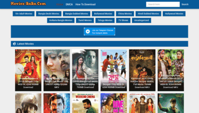 What Moviesbaba.fun website looked like in 2020 (1 year ago)