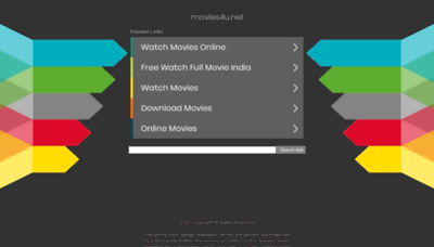 What Movies4u.net website looked like in 2020 (1 year ago)