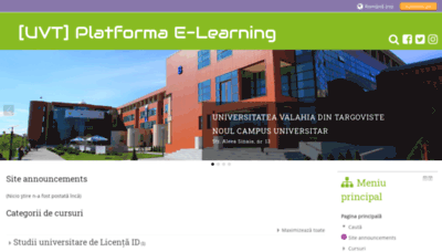 What Moodle.valahia.ro website looked like in 2020 (1 year ago)